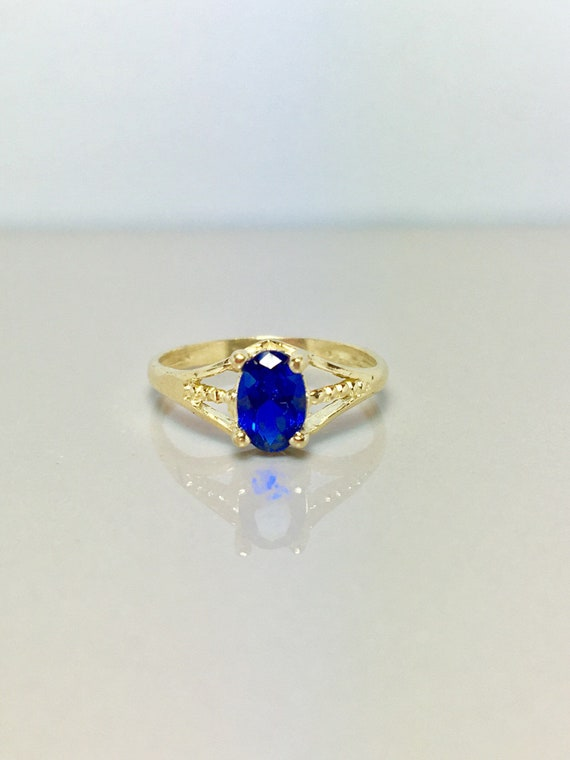 14k Solid Gold Baby Rings - Gold Sapphire Rings -