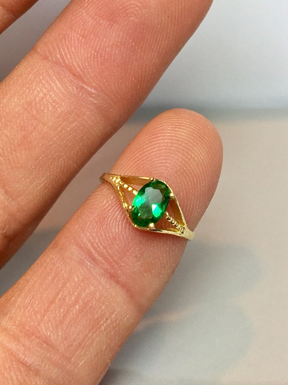 Cute Baby rings 14k Real gold - Gold Birthstone Ri