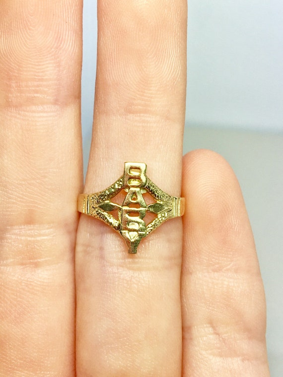 10k Solid Gold Baby Rings - Gold Word Rings - Gold
