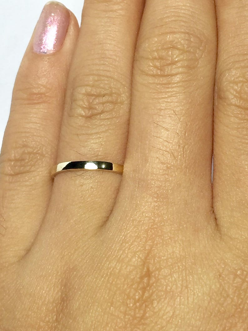 4d9e88a260959 SALE 14k/10k solid gold Ladies Gold rings - stacking rings - gold midi  rings - gold pinky ring - Toe ring gold - Ladies Simple Gold Rings