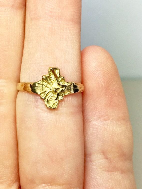 10k Solid Gold Baby Rings - Gold Jesus Rings - Gol