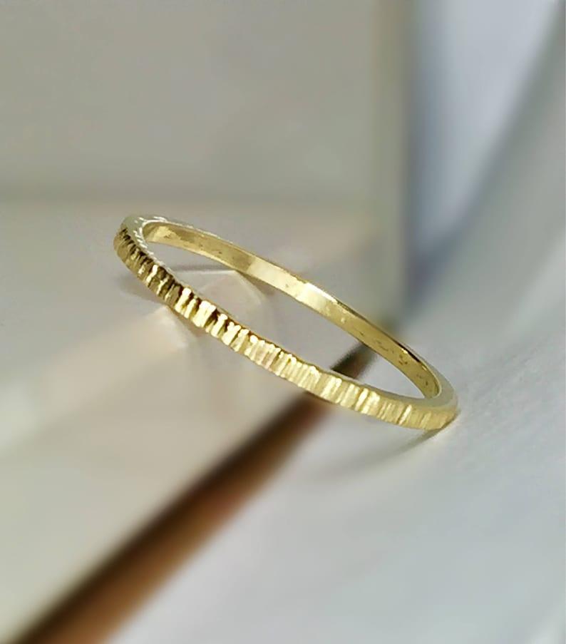 c7d1b73451c88 Sale 14k/10k Solid Gold Ladies Diamond Cut Ring - Gold Midi Ring - Gold  Pinky Ring - Gold Stacking Ring - Minimalist Rings - Dainty Rings