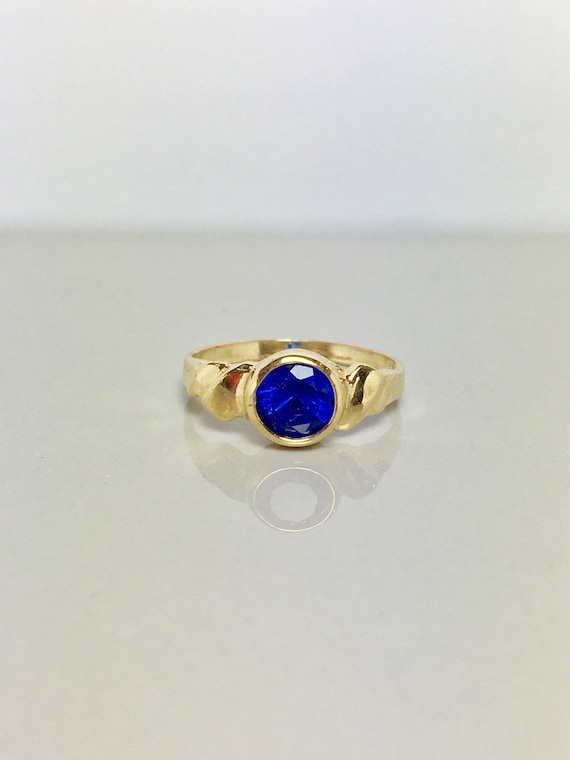 10k Solid Gold Baby Rings - Gold Sapphire Rings -