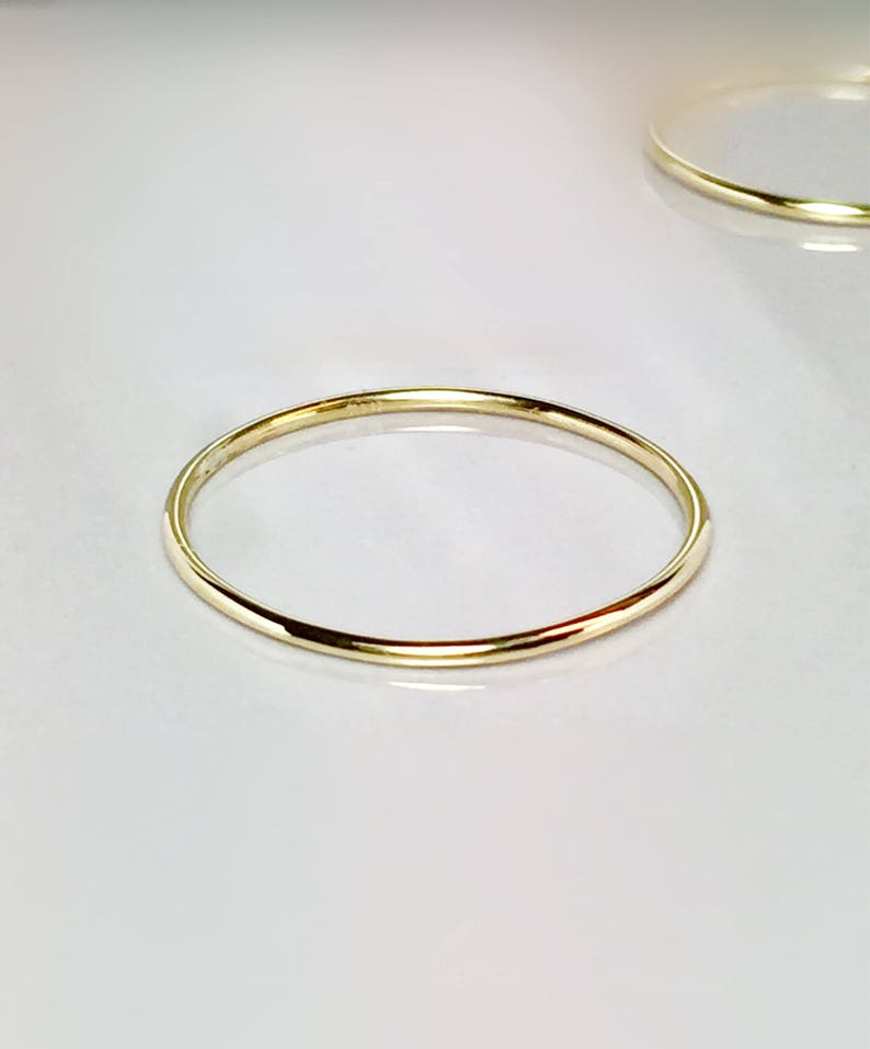 db7742dc65560 SALE 14k solid gold Ladies Delicate ring - 14k gold midi rings - Gold Thumb  Ring - 14k gold rings - 14k pinky rings - 1mm Gold Ring