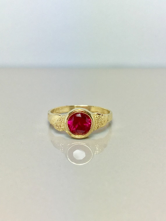 14k Solid Gold Baby Rings - Gold Baby Jewelry - Go