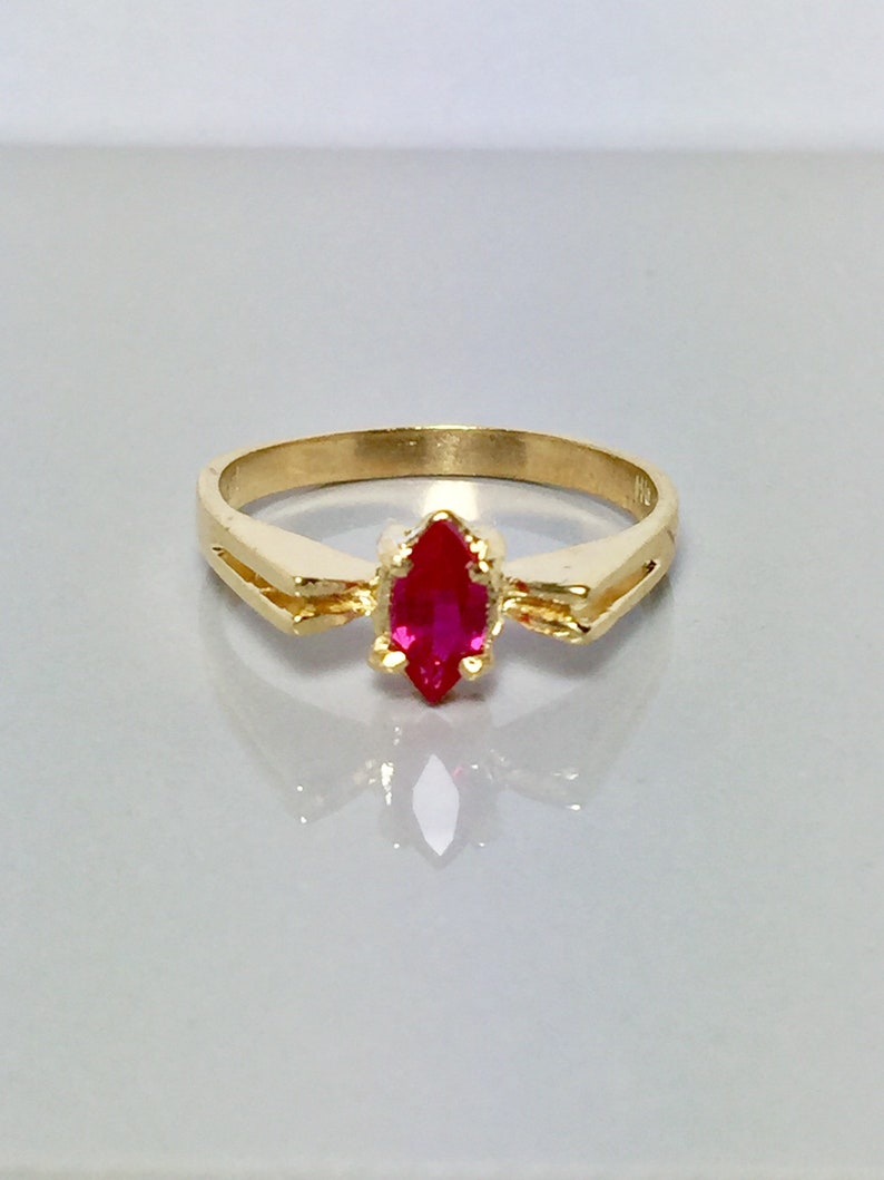 54a00db8cf6d29 New 14k solid gold Ladies Ruby Ring Ladies birthstone ring | Etsy