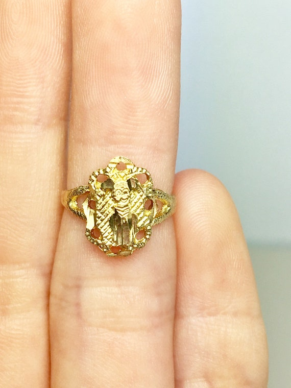 10k Solid Gold Baby Rings - Gold Dog Rings - Gold