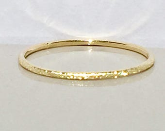 SALE 14k/10k Solid Gold Ladies Stacking Ring - White Gold Stackable Ring - Gold Stack Ring - Gold Midi Ring - Thin Gold Ring Sale - Toe Ring