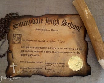 Personalized Sunnydale High certificate/diploma - Buffy the Vampire Slayer - Angel