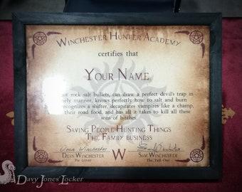 Supernatural - Certificate - Custom