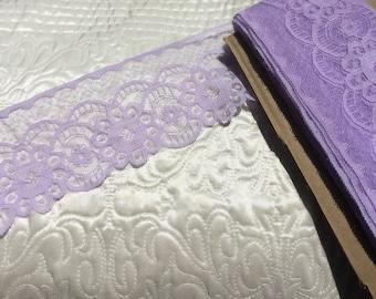 """Lilac Lace trim 3"""" wide"""