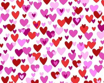 Studio E Big Love White//Pink Hearts