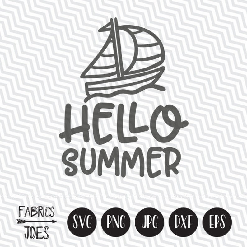 Hello Summer svg Summer svg Holiday svg Clipart in EPS DXF SVG Cricut &  Silhouette