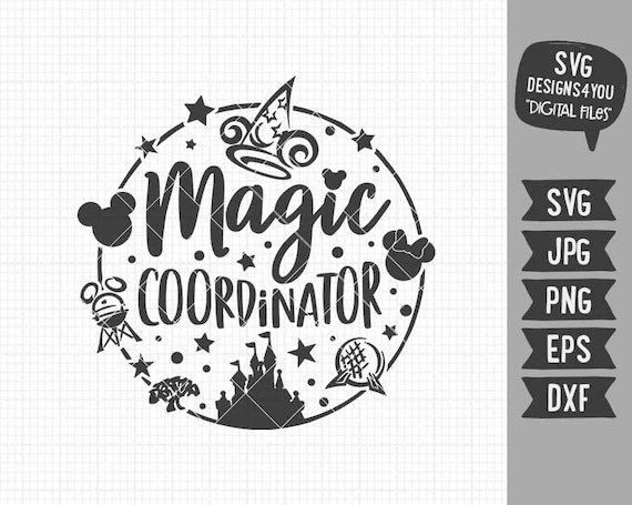 Magic Coordinator Svg Disney Inspired Svg Disney Holiday Etsy