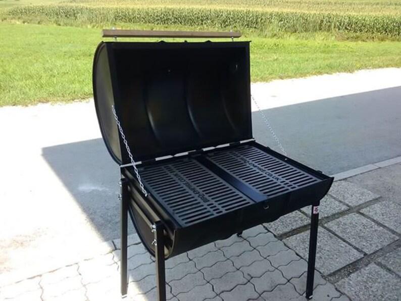Welp Olie Drum vat Barbecue Smoker BBQ houtskool olie Drum FULL | Etsy HK-85