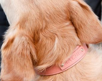 637e1f9f3ba4 Pink Dog Collar Large Dog Collar With Name Custom Dog Collar Personalized  Dog Collar Girl Dog Collar