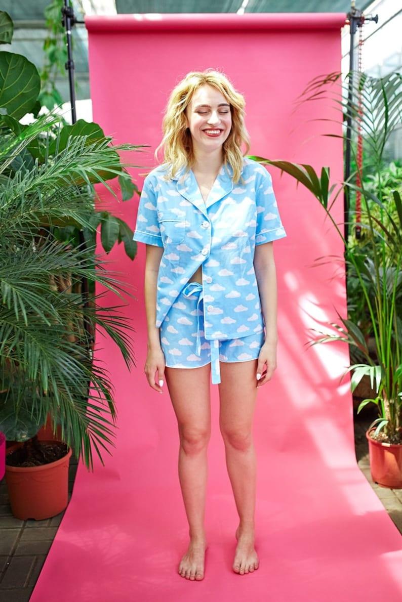 abf7b02c38 Cotton pajama set Monogrammed pajamas women Bride pajamas