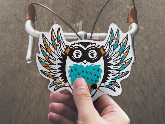 Reflektierende Superhelden Eule Aufkleber Für Fahrrad Und Helm Sicherheit Vinyl Aufkleber Ist Ein Einzigartiges Geschenk Für Kinder Radfahrer