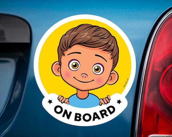 Personnalisé enfant//bébé à bord voiture signe ~ petite fille à bord ~ blonde