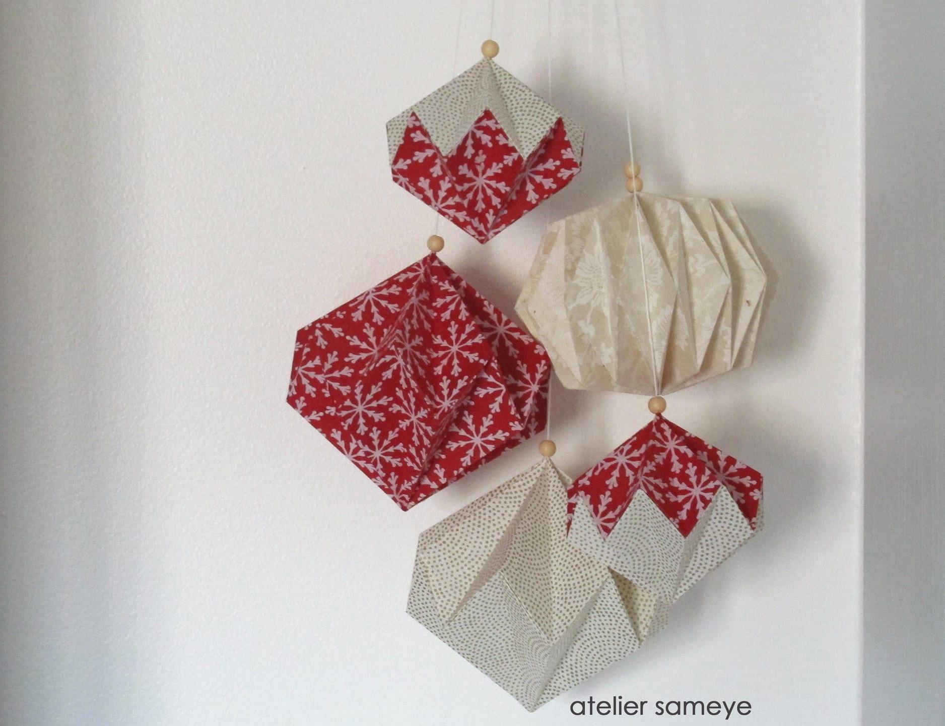 d coration murale grappe diamants origami scandinave etsy. Black Bedroom Furniture Sets. Home Design Ideas