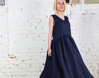 51200686348 Linen Dresses Women   Linen Summer Dress   Linen Beach Dress   Linen Womens  Clothing
