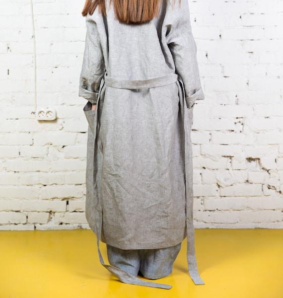 Linen bathrobe linen robe bath robe long linen robe woman  1ddc04734