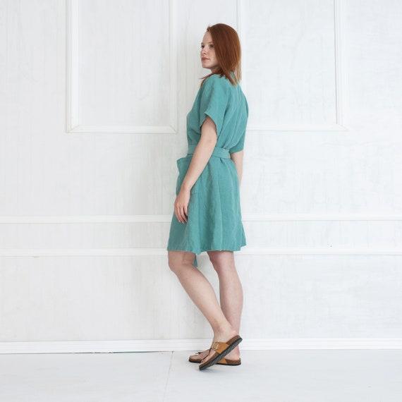 Button Linen Dress Linen Dress Woman Linen Dress Sleeves Linen Summer Dresses