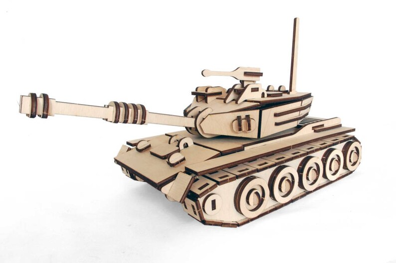 Wooden 3D Tank Woodcraft Construction Kit - Wooden Model Building Puzzle  Game, Wood Game Building, Wooden Constructor, Kids Wooden Model