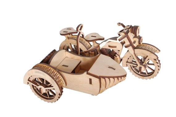 American Motorcycle Woodcraft Construction Kit Wooden Bike Model KIDS//ADULTS