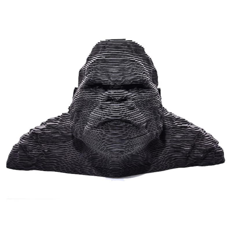 Monkey Puzzles,King Kong Paper Puzzles DIY Papercraft 3D Cardboard Monkey Home Decor Corrugated Board,Papercraft Animal Paper Puzzles