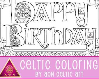 Happy Birthday - coloring card