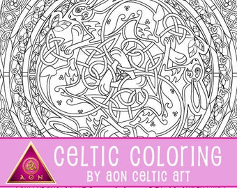 Celtic Rabbit Mandala - coloring page