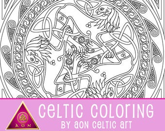 Golden Lions of Lugh - coloring page