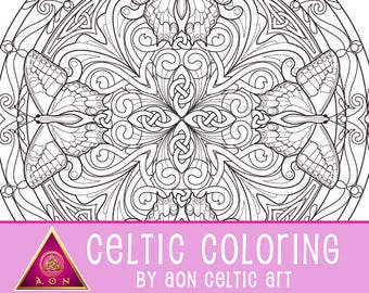 Celtic Butterfly Mandala 1 - coloring page