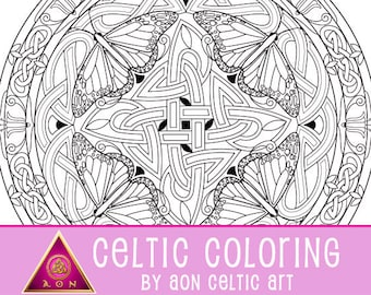 Celtic Butterfly Mandala 2 - coloring page
