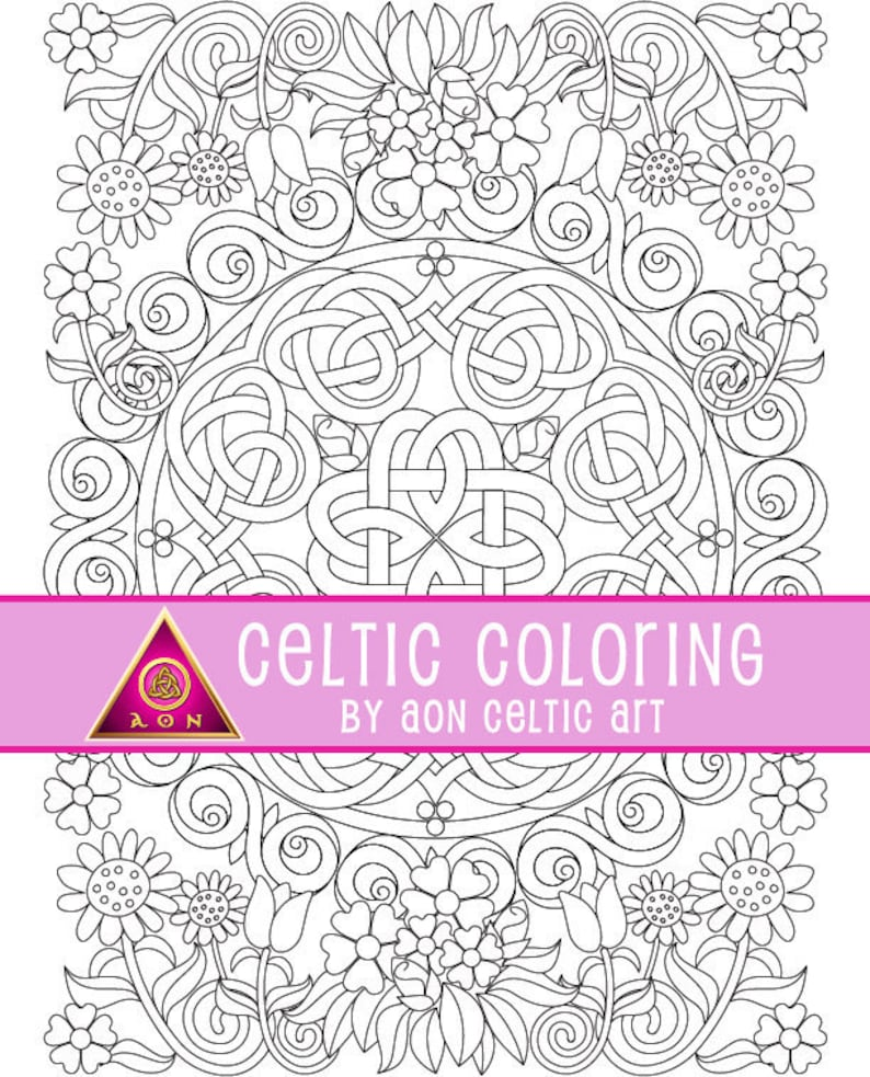 CELTIC COLORING Page  Spring Has Sprung  Irish  Colouring  image 0