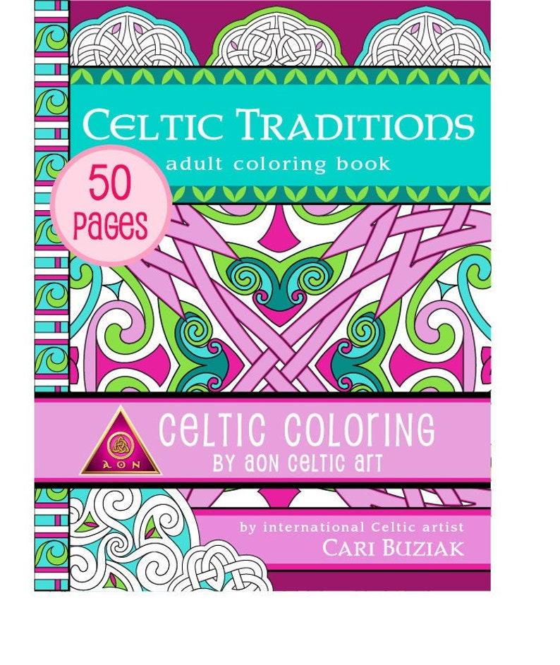 CELTIC COLORING eBook  Celtic Traditions  50 pages  Irish  image 0