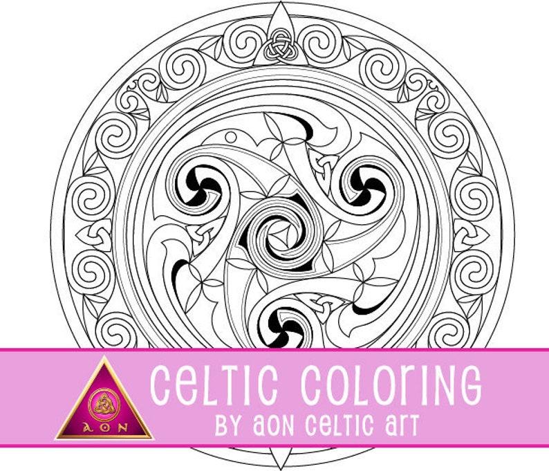 Illuminata Shield - coloring page