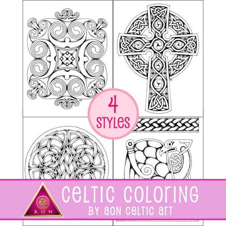 Celtic Greeting Cards  coloring card image 0