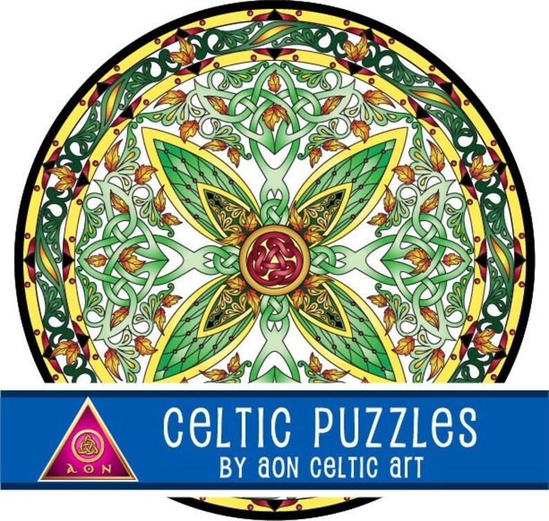 CELTIC Jigsaw PUZZLE  Celtic TREE of Life Mandala  300 image 1