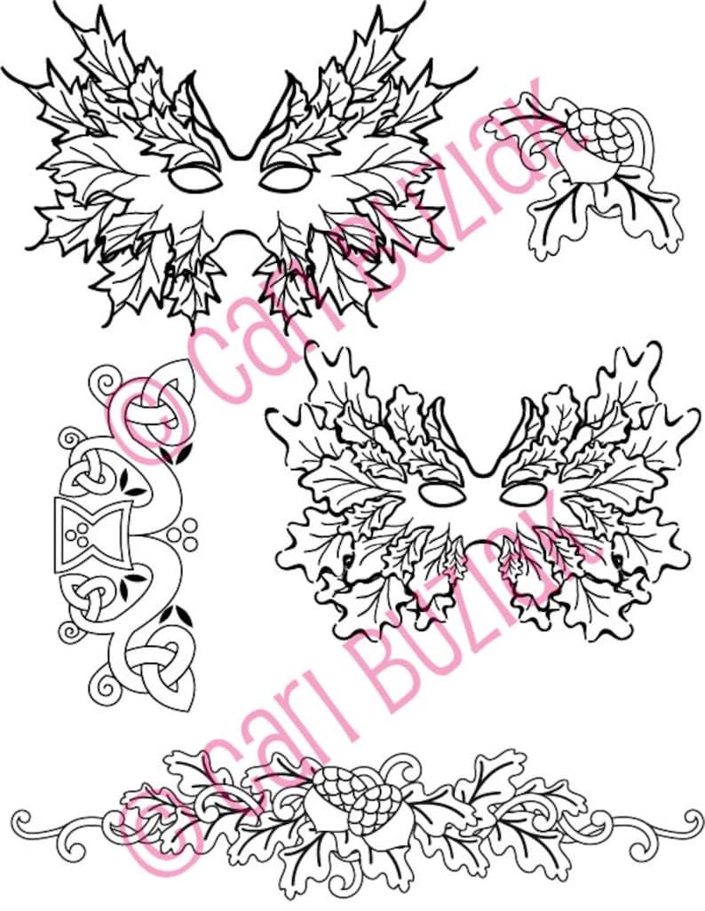 Celtic Tattoo Clipart Tree Of Life Greenman Pagan Spiral Designs Flash Coloring Knots Fantasy Irish Clip Art Download