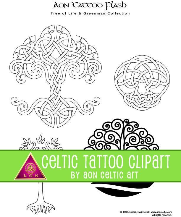 43 dessins de tatouage celtique arbre de vie greenman etsy. Black Bedroom Furniture Sets. Home Design Ideas
