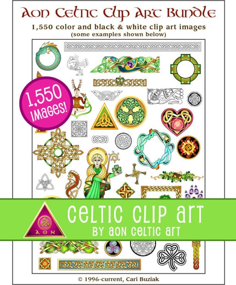 AON CELTIC Clipart Bundle  1550 Web Clipart Images  Knot  image 0