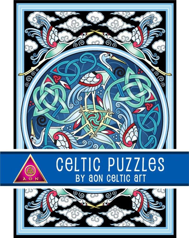 CELTIC Jigsaw PUZZLE  Celtic CRANES  1000 Pieces  image 1