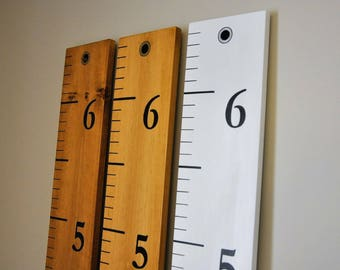 Numbers only Growth Chart with nail hole on top