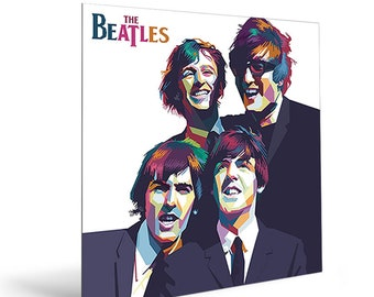 The Beatles Poster Large Format Wall Metal Art Print Digital Printed On Dibond For Home Office Loft Best Gift Music Lovers