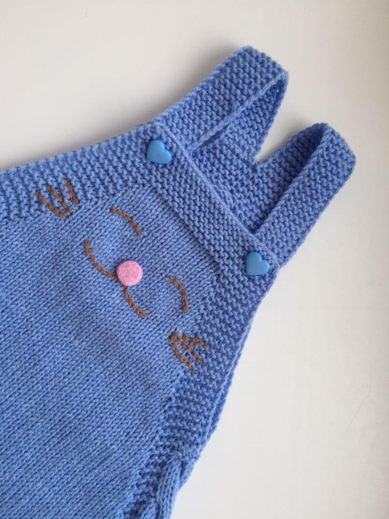 baby overalls newborn romper Blue romper cotton silk Knit Baby romper 0-3 mon handmade onesies newborn shots baby photo props