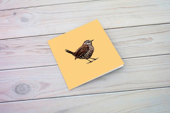 Wren Eco Friendly Illustrated Greetings Card