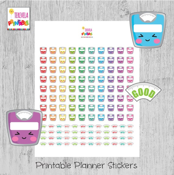 picture relating to Scales Printable named 60% OFF SCALE planner stickers, weigh within keep track of, fat scale stickers, lovely scales, kawaii scales, printable planner stickers, Erin Condred