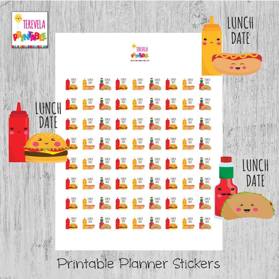 printable planner stickers 60/% OFF LUNCH DATE planner stickers date planner stickers luch stickers planner accesories cute stickers